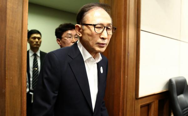Lee Myung-bak was sentenced Friday to 15 years in prison. He had been convicted of embezzlement and taking $5.4 million in bribes from Samsung.