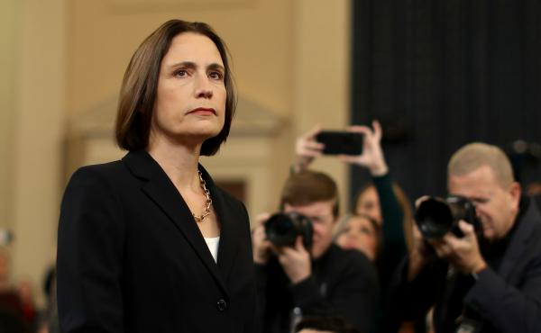 Fiona Hill, the National Security Council's former senior director for Europe and Russia, arrives on Capitol Hill on Nov. 21, 2019.