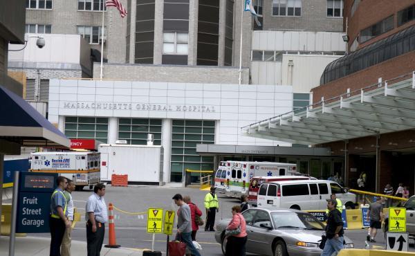 The exterior of Boston's Massachusetts General Hospital in 2008.