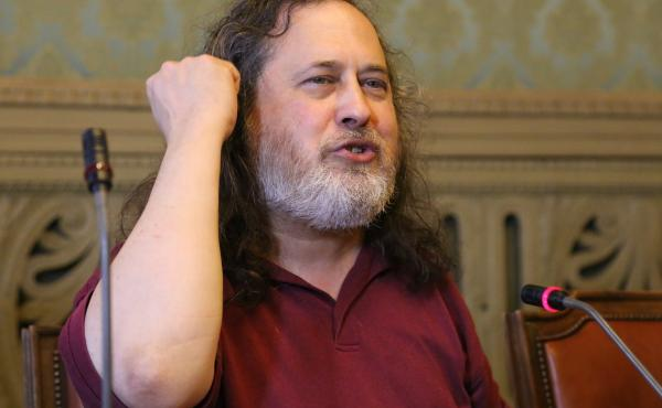 Richard Stallman, pictured in 2015, resigned from his posts as President of the Free Software Foundation and visiting scientist at MIT's Computer Science & Artificial Intelligence lab.