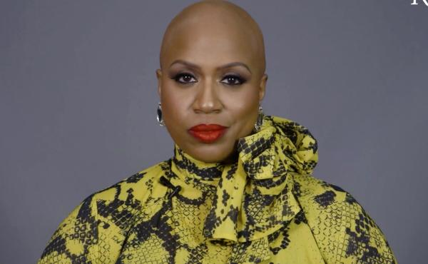 Rep. Ayanna Pressley appears in a video for The Root, the African American-focused online magazine, in which she reveals her bald head and talks about living with alopecia.