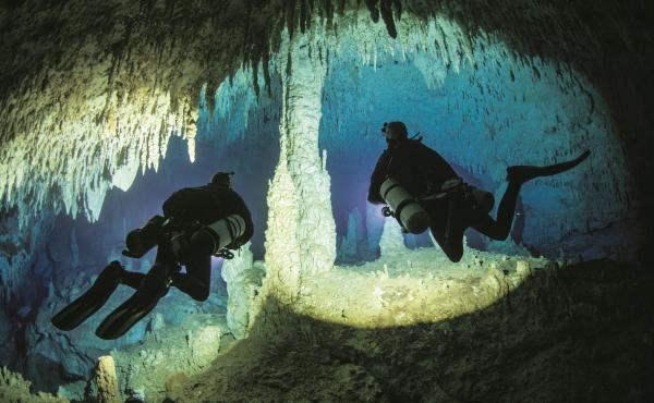"""Jill Heinerth says Dan's Cave on Abaco Island, Bahamas, is her """"favorite cave on Earth."""""""