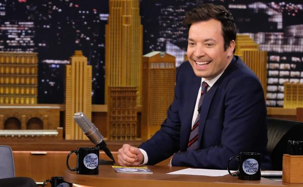 """""""I'm meant to make people happy. That's my job,"""" says Tonight Show host Jimmy Fallon."""