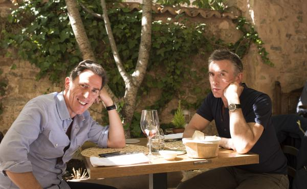 Rob Brydon (left) and Steve Coogan improvise exaggerated versions of themselves in The Trip to Spain.