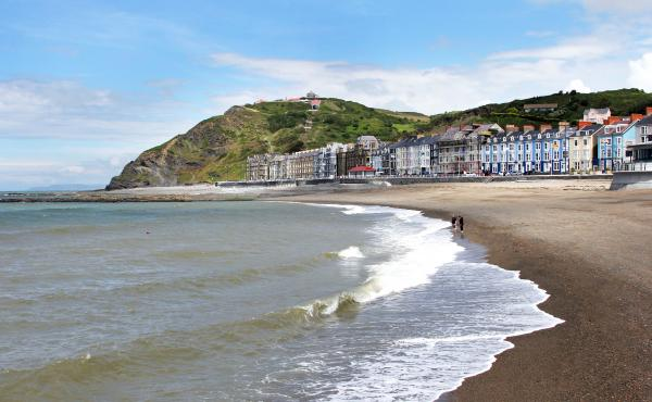 Aberystwyth lies in a cove along the Welsh coast and looks out toward Ireland. Aberystwyth is part of an area that YouGov, the on-line polling company, says is the most EU-friendly region in the United Kingdom.