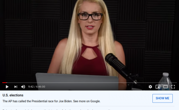 Millie Weaver, a former correspondent for the conspiracy theory website Infowars, hosts nearly 7 hours of live coverage on her YouTube channel. Conservative influencers like Weaver who often broadcast live are increasingly worrisome to misinformation rese