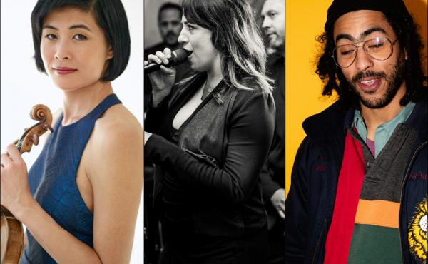 Left to right: Jennifer Koh, Molly Kirk Palier and Rory Ferreira