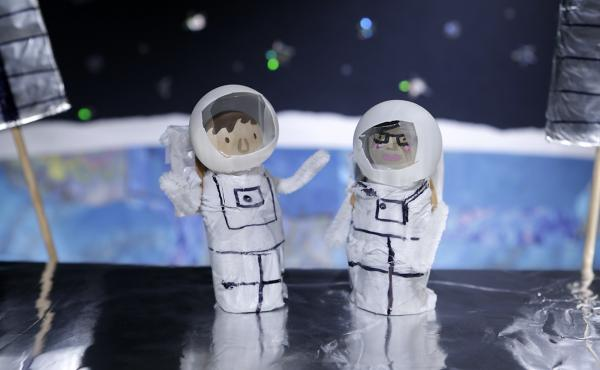 Astronauts thinking deep thoughts.