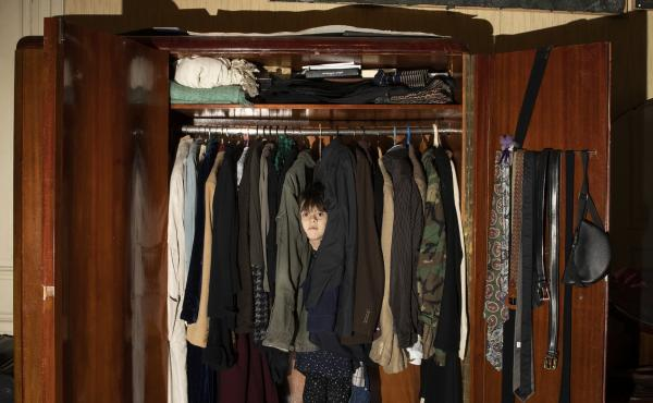 My niece, Nisime, in her hiding place — my parents' closet. She is my muse during the quarantine days. April 3, 2020. Tbilisi, Georgia