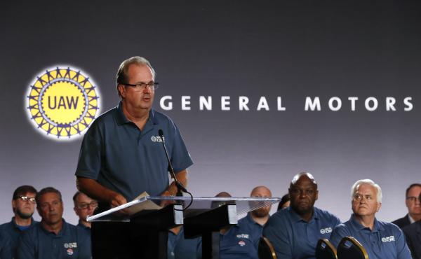 United Auto Workers President Gary Jones speaks in Detroit on July 16. The FBI is investigating allegations that Jones and other UAW officials accepted bribes.