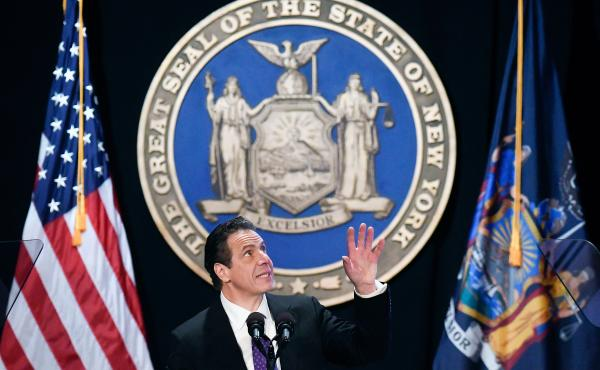 "In his State of the State address this week, New York Gov. Andrew Cuomo, a Democrat, said the new GOP tax bill is ""unconstitutional"" and unfairly targets blue states like his. He plans to sue the federal government over it."