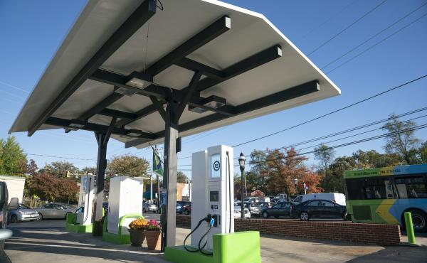 RS Automotive station's electric chargers look similar to their predecessors, creating confusion for some customers.