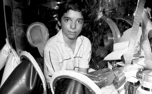 David Vetter, pictured in September 1982 inside part of the bubble environment that was his protective home until he died in 1984. Today most kids born with severe combined immunodeficiency are successfully treated with bone marrow transplants, but resear