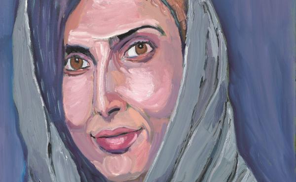 A portrait of Roya Mahboob, by former President George W. Bush