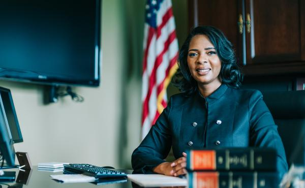 Cobb County, Ga., District Attorney Joyette Holmes will lead the prosecution of two men in the Ahmaud Arbery case.