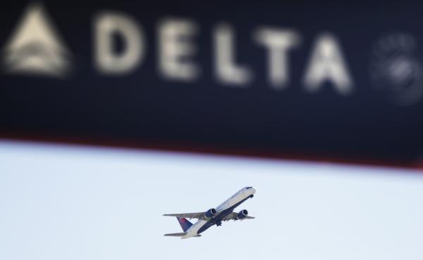 A Delta Air Lines flight takes off from Hartsfield-Jackson Atlanta International Airport in Atlanta in January of last year.