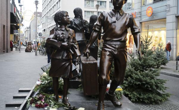 The German government has agreed to make a one-time payment to Kindertransport survivors, commemorated by a statue in Berlin, Germany.