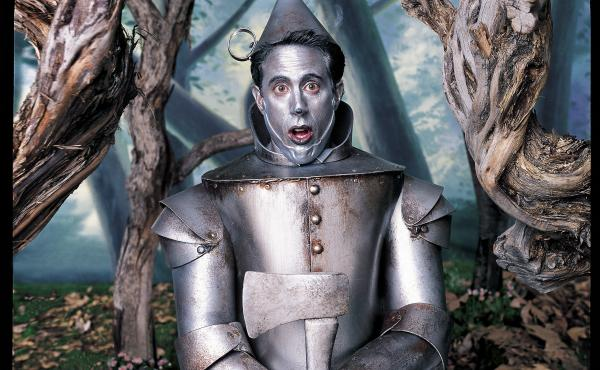 Mark Seliger says a sense of humor is what differentiates his portraits. Above, comedian Jerry Seinfeld as the Tin Man from The Wizard of Oz.