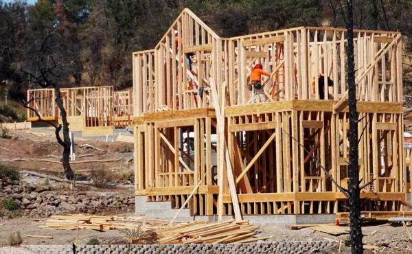 A house being rebuilt in Sonoma County where the Tubbs fire burned last year. The Tubbs fire was the most destructive fire in California history, destroying more than 5,000 structures.