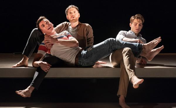 Inspired by E.M. Forster's Howards End, Matthew Lopez wrote The Inheritance, which explores different generations of gay men, and the legacy they pass on to one another. Pictured above are Samuel H. Levine, left, Kyle Soller and Andrew Burnap.
