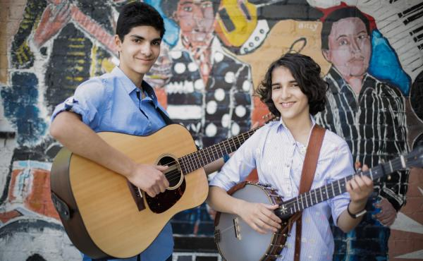 Origins, the debut album by 14- and 11-year-old siblings Giri (left) and Uma Peters, is a set of traditional folk and blues songs that puts the duo's intention to spotlight the black musical traditions that shaped and spread the tunes.