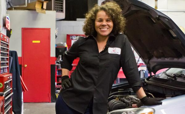 Patrice Banks own the Girls Auto Clinic in Upper Darby, Pa.
