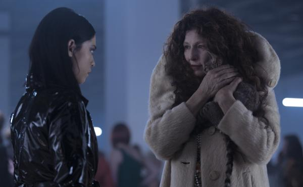 L to R: Lisa (Rosa Salazar) gets more than she bargained for from Boro (Catherine Keener) in Netflix's Brand New Cherry Flavor.