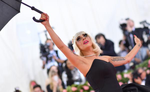 Lady Gaga, photographed outside of the Met Gala on May 6, 2019, in New York.