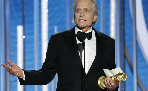 Michael Douglas won best actor in a TV series, musical or comedy, for his role in The Kominsky Method.