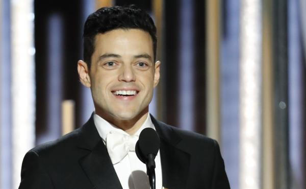 Rami Malek won a Golden Globe for his performance in the drama Bohemian Rhapsody, in which he played iconic singer Freddie Mercury.
