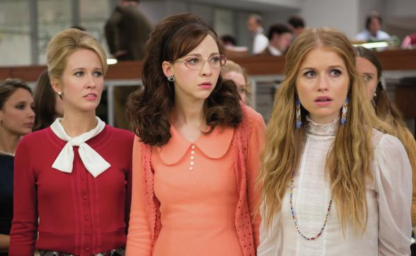 Anna Camp, Erin Darke and Genevieve Angelson star in Good Girls Revolt, which is based on a landmark gender bias case at Newsweek.