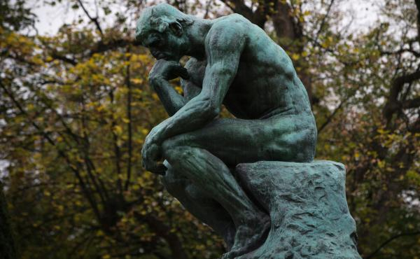 The Rodin Museum in Paris is selling sculptures to pay the bills — and that's exactly as the artist intended. When he died in 1917, Auguste Rodin left the museum plaster casts for just this purpose. Above, The Thinker (Le Penseur) is pictured ahead of t