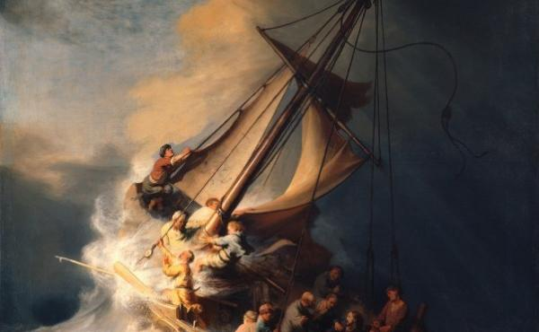 Christ in the Storm on the Sea of Galilee, a 1633 painting by Rembrandt, was stolen from the Isabella Stewart Gardner Museum in 1990.