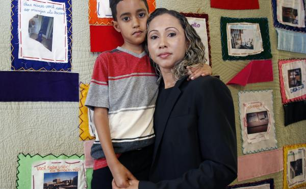 A Brazilian mother, who asked to be identified only as W.R., was reunified with with her 9-year-old son A.R. in Boston on July 16.