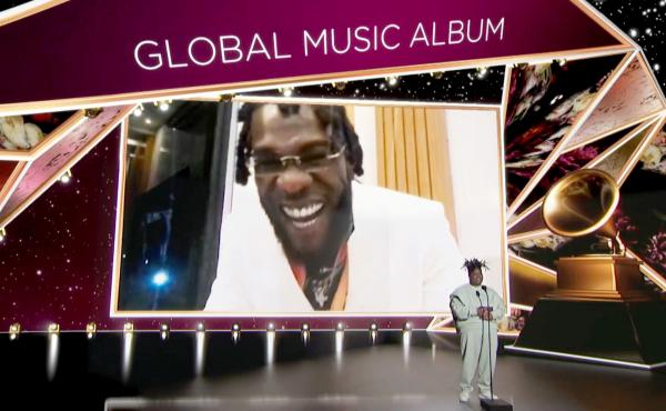 Burna Boy accepted the Best Global Music Album award for 'Twice as Tall' from Chika at the Grammy awards on March 14. His acceptance speech was dedicated to all of Africa.