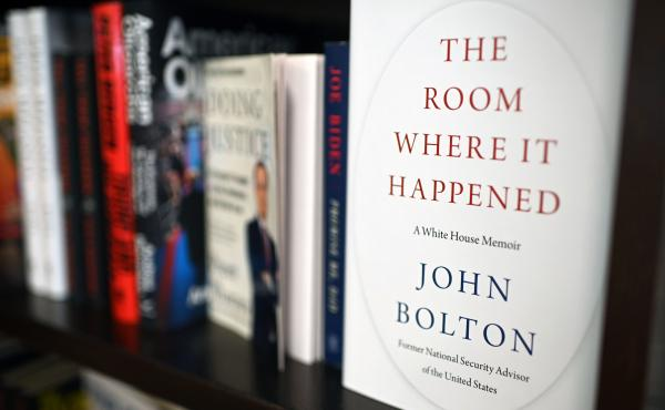 Copies of The Room Where it Happened, a memoir by former national security adviser John Bolton, are seen at a Barnes & Noble bookstore in Glendale, Calif., in June.