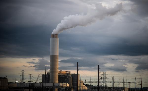 Emissions rise from Duke Energy's coal-fired Asheville power plant in Arden, N.C., in 2018.