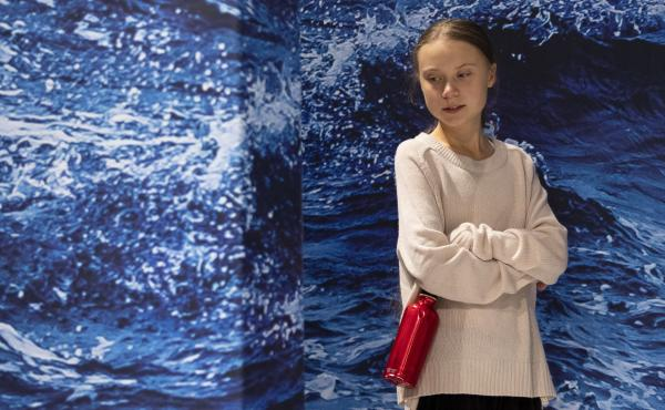 "Swedish climate activist Greta Thunberg was named Time magazine's person of the year for showing ""what it might look like when a new generation leads."" She's seen here at the COP25 Climate Conference in Madrid on Wednesday."