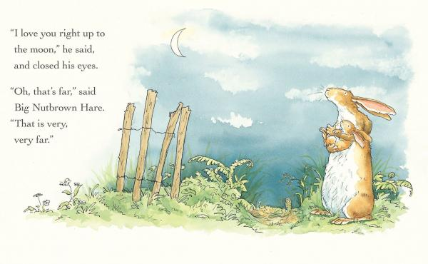Guess How Much I Love You™ © 2015 Sam McBratney and Anita Jeram. Guess How Much I Love You™ is a registered trademark of Walker Books Ltd, London. Reproduced by permission of the publisher, Candlewick Press, Somerville, MA on behalf of Walker Books,