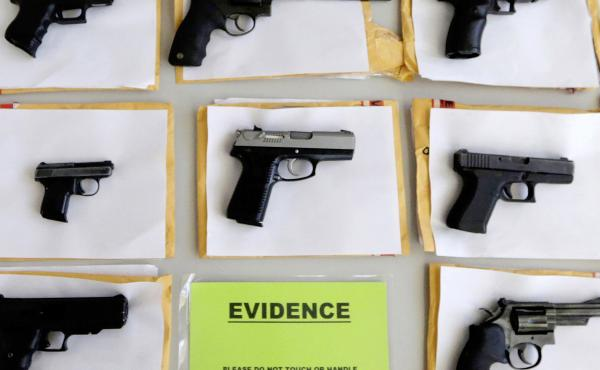 Some of the thousands of illegal firearms Chicago police confiscated in 2014. A study published Tuesday in the Journal of the American Medical Association examines gun deaths in Chicago from 2006 to 2014.