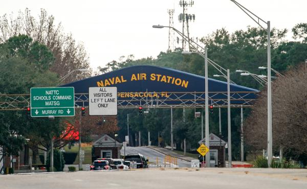 A shooting at Naval Air Station Pensacola on Friday ended with the shooter's death, the Navy says.