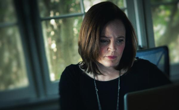 Michelle McNamara, as seen in the HBO adaptation of her book I'll Be Gone in the Dark.
