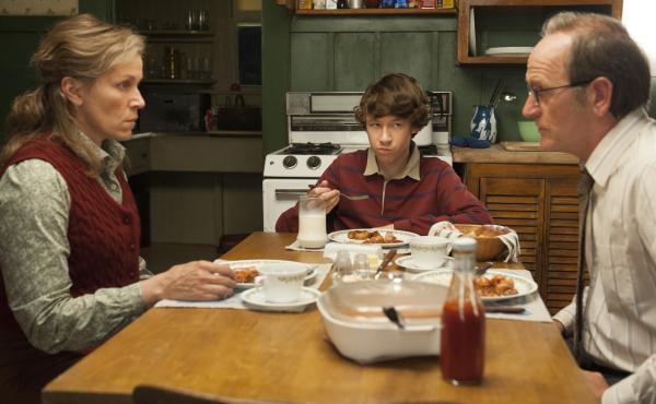 Frances McDormand, left, stars with Richard Jenkins, right and Devin McKenzie Druid in HBO's Olive Kitteridge.