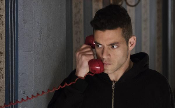 Rami Malek plays Elliot Alderson — a cybersecurity engineer who takes justice into his own hands — in the TV show Mr. Robot.