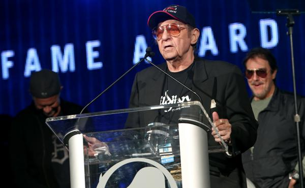 Drummer Hal Blaine attends an awards ceremony in Anaheim, Calif., in 2014.