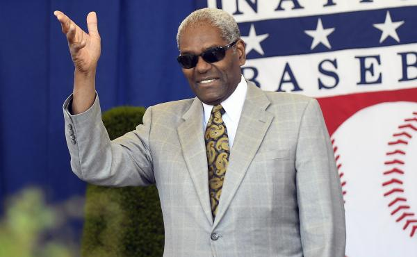 National Baseball Hall of Famer Bob Gibson arrives for an induction ceremony at the Clark Sports Center in Cooperstown, N.Y., in 2017. Gibson died Friday at 84.