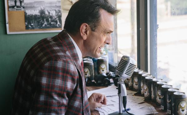 Hank Azaria as sportscaster Jim Brockmire — a character he says has been in his head for decades.