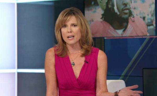 """ESPN's Hannah Storm aimed a sharply worded op-ed segment at the NFL Sunday, taking the league to task for its handling of the Ray Rice incident. She asked, """"What exactly does the NFL stand for?"""""""