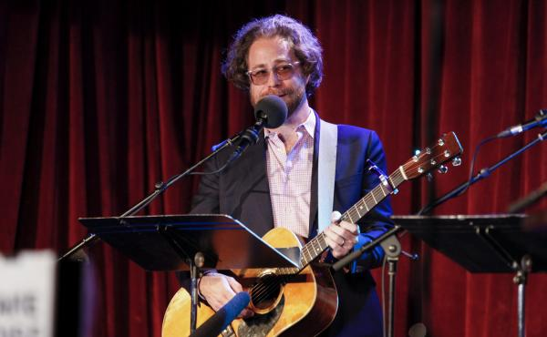 Musician Jonathan Coulton performs on NPR's Ask Me Another at The Bell House in Brooklyn, New York.
