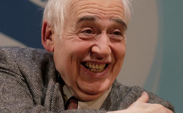 Literary critic and author Harold Bloom addresses an audience in New York on March 9, 2003.